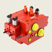Spool hydraulic directional control valve / electro-hydraulic / compact / sectional