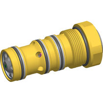 Cartridge check valve / screw-in / hydraulic / for high flow rates