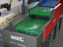 Magnetic drum separator / particle / for the recycling industry / high-intensity