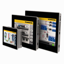 HMI with touch screen / panel-mount / 800 x 480 / with card reader