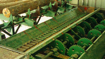 Chain conveyor / for the wood industry / for wood / wide