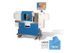 Polymer sampling system / in-line / for polymer testing / with test specimen molding
