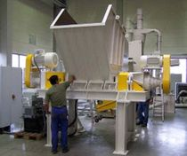 Double-shaft shredder / for medical waste / wood / for PET bottles