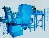 Four-shaft shredder / for wood / rubber / plastics