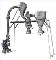 Cyclone separator / granulates / for bulk materials / plastic