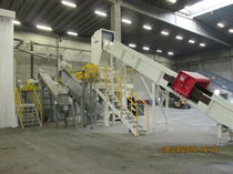 Plastic production scrap recycling line