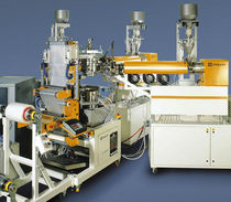 Blown film extrusion line / film / 7 layers / with water cooling