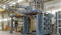 Extrusion blow molding machine / electric / hydraulic