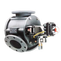 Plug valve / pneumatic-operated / diverter