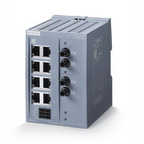 Unmanaged ethernet switch / 8 ports / fiber optic / DIN rail