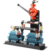 Chemical pump / electric / self-priming / with backup and priming handle