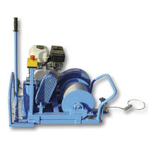 Electric winch / for cable pullers / rotary drum