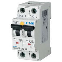 Overcurrent residual current circuit breaker / digital / DIN rail