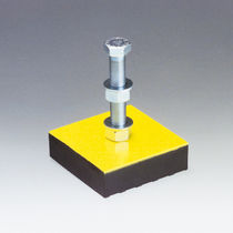 Machine foot / anti-vibration / leveling / galvanized steel