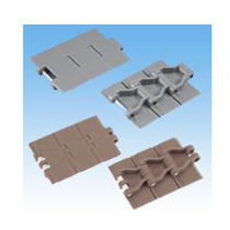 Plastic conveyor chain / slatted