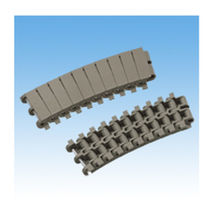 Plastic conveyor chain / slatted / for heavy loads / block