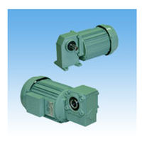 Three-phase electric gearmotor / orthogonal / worm / compact
