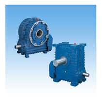 Worm gear reducer / orthogonal / high-performance / with flange