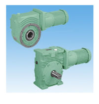 Orthogonal gearmotor / worm / helical / compact