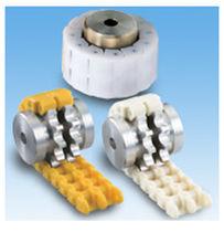 Roller chain coupling / light-duty / nylon / flange