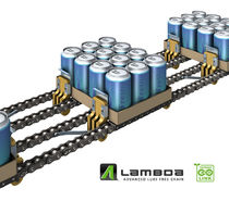 Steel conveyor chain / roller / for the beverage industry