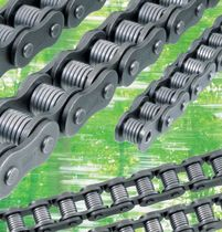 Power transmission chain / roller / steel / low-noise