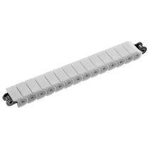 Steel conveyor chain / plastic / roller / lube-free