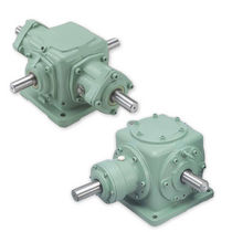 Spiral bevel gearbox / orthogonal / high-performance / large