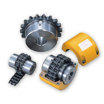 Roller chain coupling / transmission / steel / stainless steel
