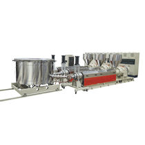 Flat-film extrusion line / for EVA / 3-layer / agricultural film