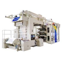 Flexographic printing machine / eight-color / for labels / for plastics