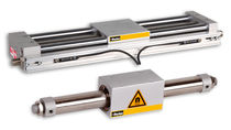 Pneumatic cylinder / rodless / double-acting / magnetically-coupled