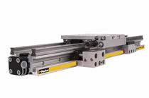 In-line actuator / pneumatic / rodless / double-acting