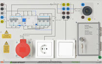 Training and demonstration board for electrical installations