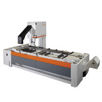 Band saw / for non-ferrous materials / swivel / traveling-head