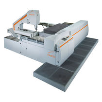 Band saw / for steel / traveling-head / variable-speed