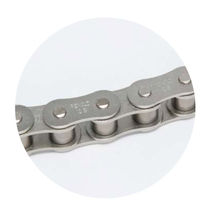 Power transmission chain / roller / steel / zinc-plated