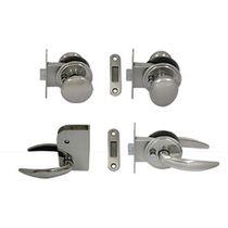 Key lock latch / steel / stainless steel / magnetic cabin door