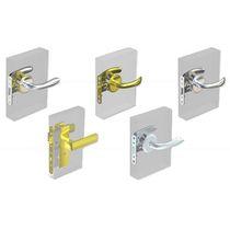 Key lock / for swing doors / brass