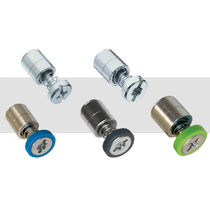 Stainless steel knurled screw / captive / miniature