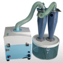 Cyclone dust collector / pneumatic backblowing / compact / mobile