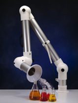 Bench-top extraction arm / rigid / articulated / dust