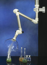 Fixed extraction arm / wall-mounted / flexible / for smoke