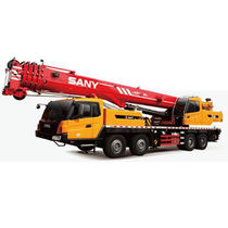 Mobile crane / boom / folding / for construction