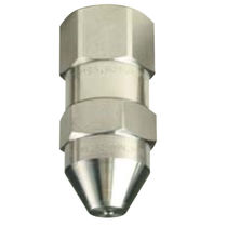 Spraying nozzle / full-cone / for liquids / stainless steel