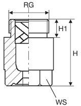 Spraying nozzle / full-cone / for liquids / screw-in
