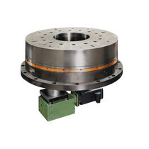 Motor-driven rotary indexing table / horizontal / with face gear / flush-mount