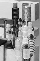 Compression spring / cylindrical / elastomer / DIN ISO 10069-1