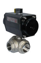 Ball valve / for water / with extended stem / nickel-plated brass