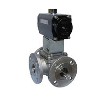 Ball valve / for water / flange / stainless steel